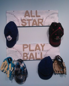 Baseball Wall Hook Decor